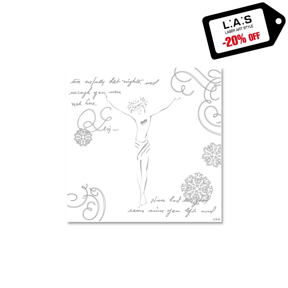 L:A:S - Laser Art Style - CROCIFISSO DA PARETE DESIGN MODERNO – Q-036-T7 BIANCO