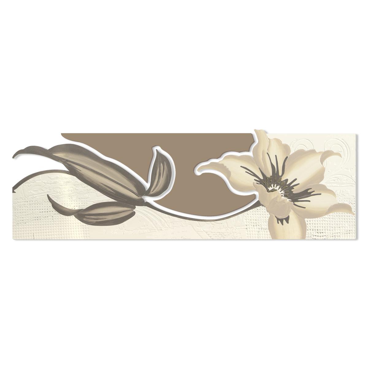 L:A:S - Laser Art Style - QUADRO – SCULTURA DA PARETE – SI-074-B PANNA-NOCCIOLA-DECORO TORTORA