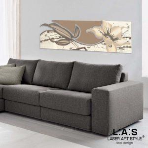 L:A:S - Laser Art Style - SI-074-B PANNA-NOCCIOLA-DECORO TORTORA