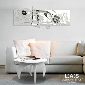 L:A:S - Laser Art Style - SI-106 BIANCO-ARGENTO-INCISIONE NERO