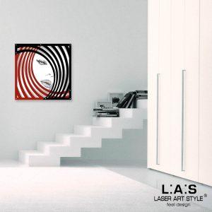 L:A:S - Laser Art Style - SI-122M BIANCO-ROSSO-NERO-DECORO GRIGIO