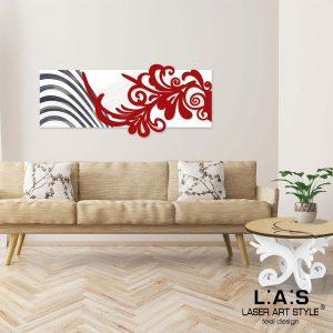 L:A:S - Laser Art Style - SI-134 BIANCO-ROSSO-INCISIONE NERO
