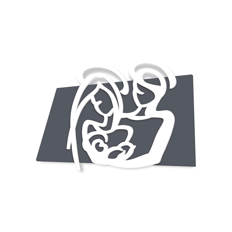 L:A:S - Laser Art Style - CAPEZZALE SACRA FAMIGLIA – SI-228XL ANTRACITE-BIANCO