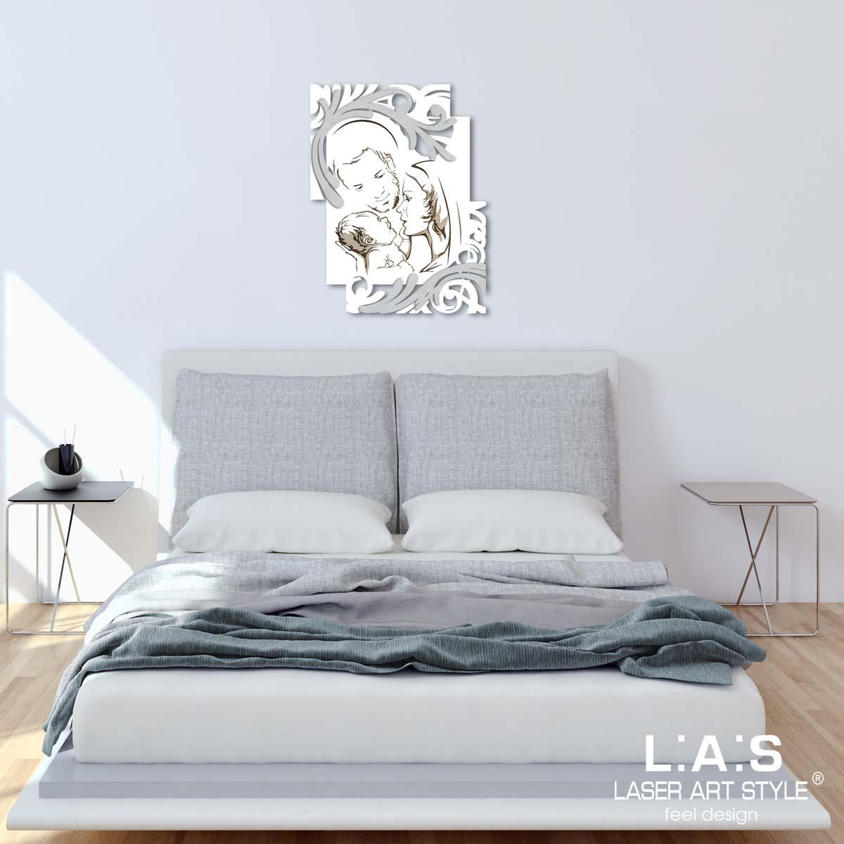 L:A:S - Laser Art Style - CAPEZZALE DESIGN MODERNO  – SI-237 BIANCO-ARGENTO