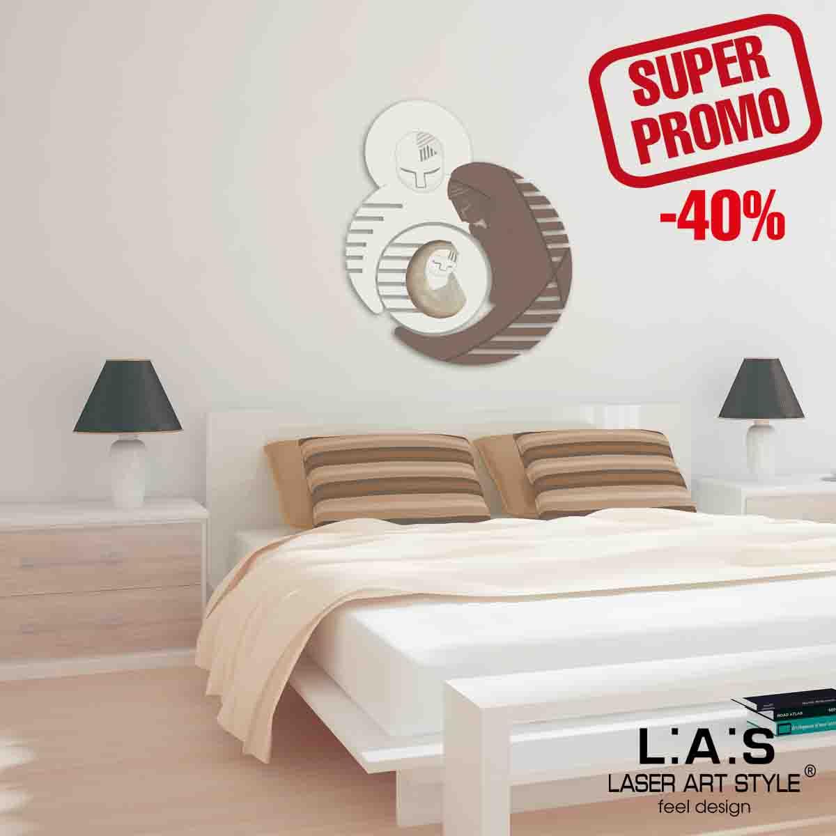 L:A:S - Laser Art Style - QUADRO SACRA FAMIGLIA – SI-265-SF PANNA – GRIGIO MARRONE