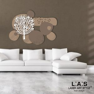 L:A:S - Laser Art Style - SI-272 NOCCIOLA-GRIGIO MARRONE-BIANCO