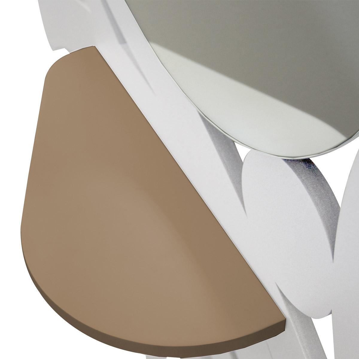 L:A:S - Laser Art Style - SPECCHIERA-MENSOLA E APPENDIABITI  DESIGN MODERNO SI-287 BIANCO-NOCCIOLA