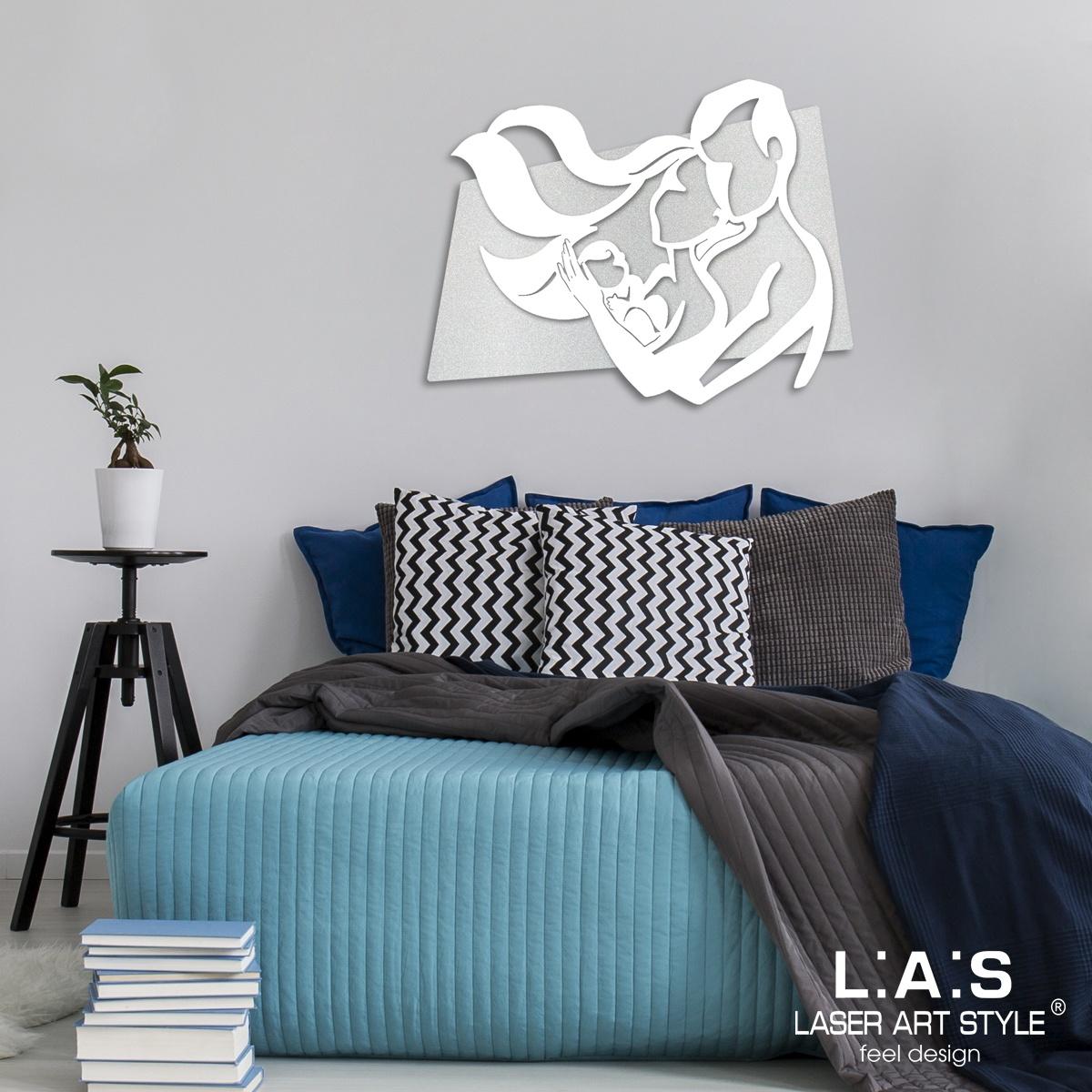 L:A:S - Laser Art Style - CAPOLETTO DESIGN MODERNO – SI-323XL ARGENTO – BIANCO