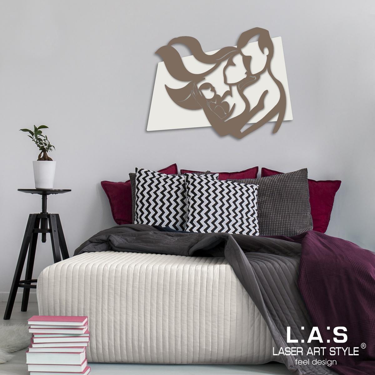 L:A:S - Laser Art Style - CAPOLETTO MODERNO – SACRA FAMIGLIA SI-323XL PANNA – GRIGIO MARRONE