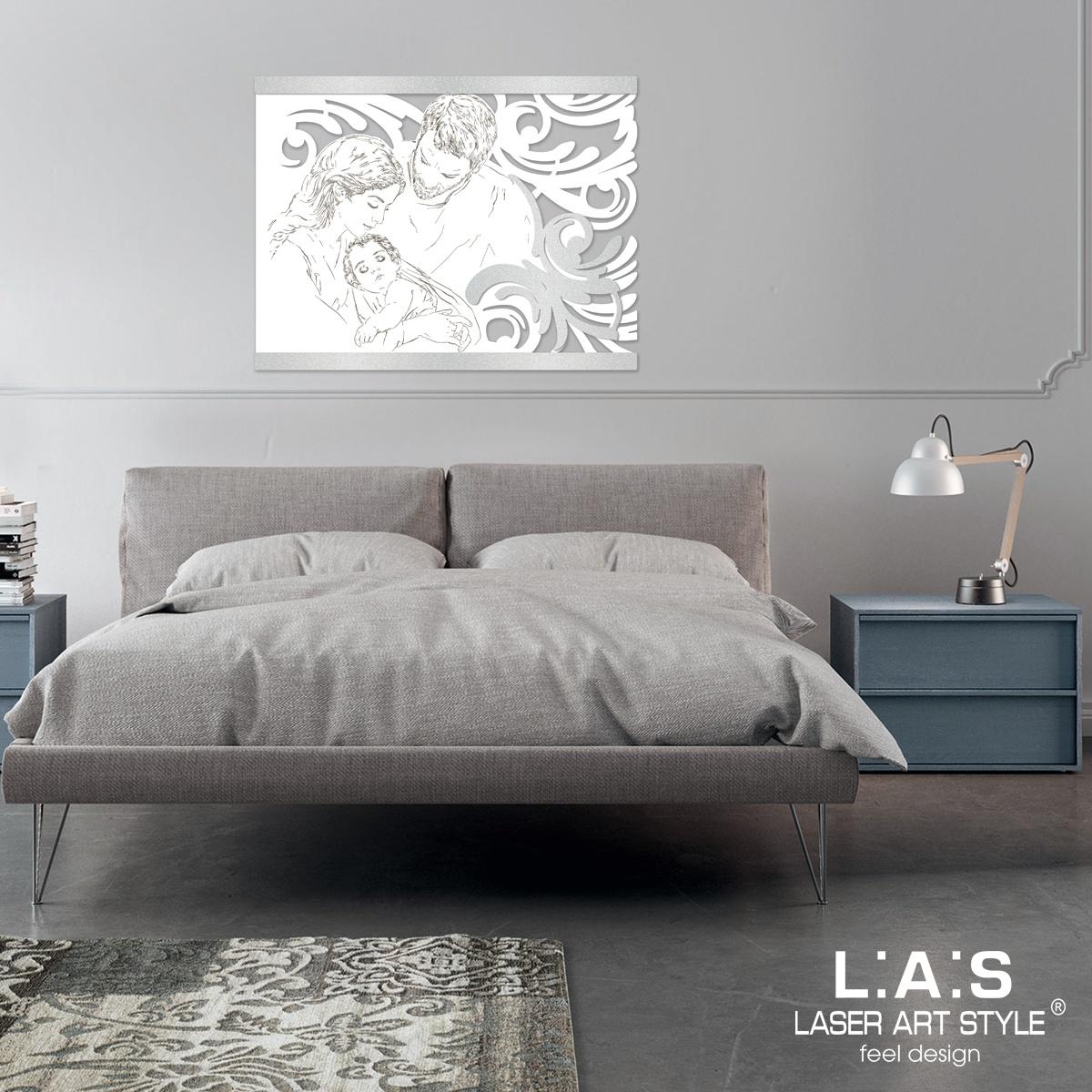 L:A:S - Laser Art Style - CAPOLETTO SACRA FAMIGLIA SI-327XL BIANCO-ARGENTO
