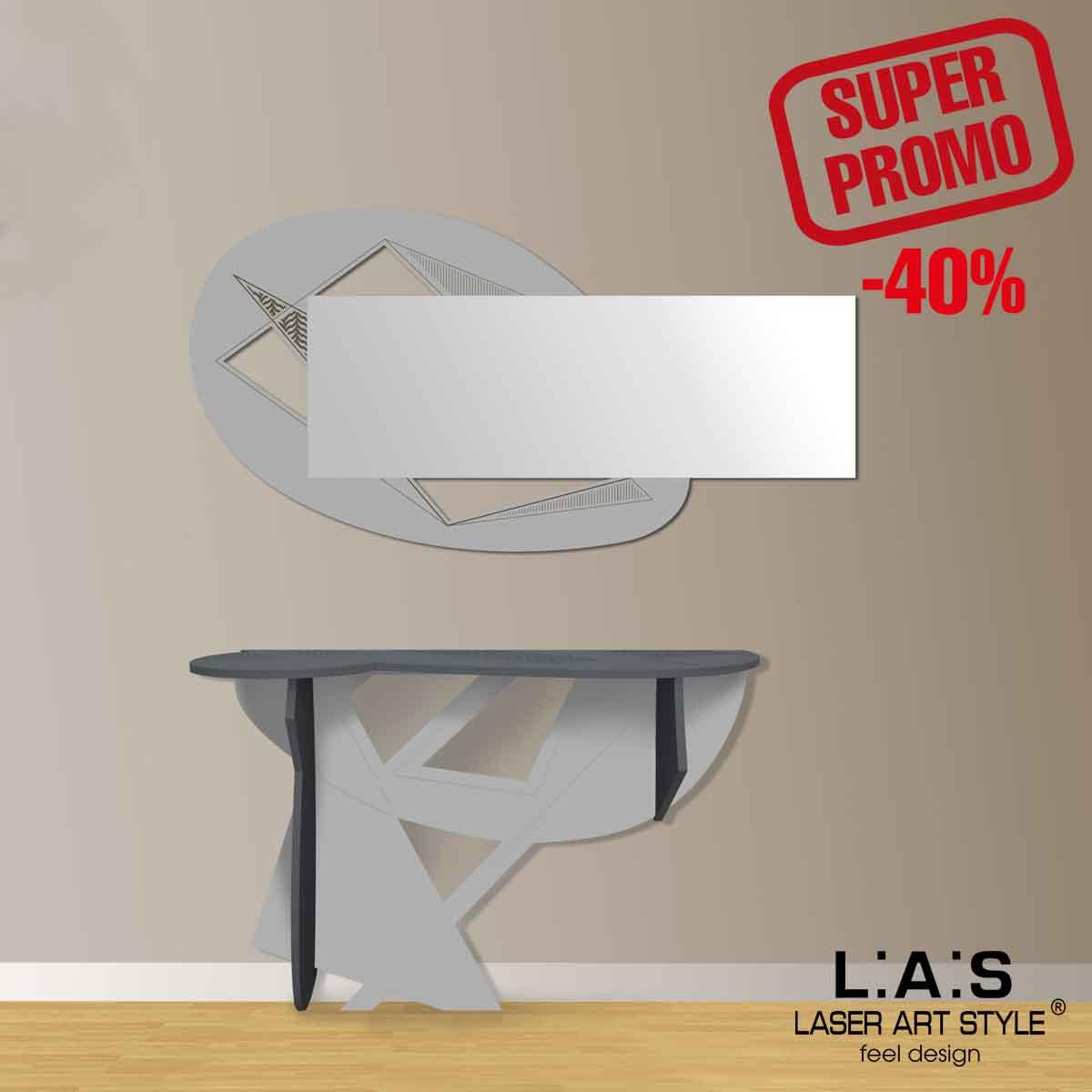 L:A:S - Laser Art Style - SPECCHIERA DESIGN SCANDINAVO – SI-376 CEMENTO