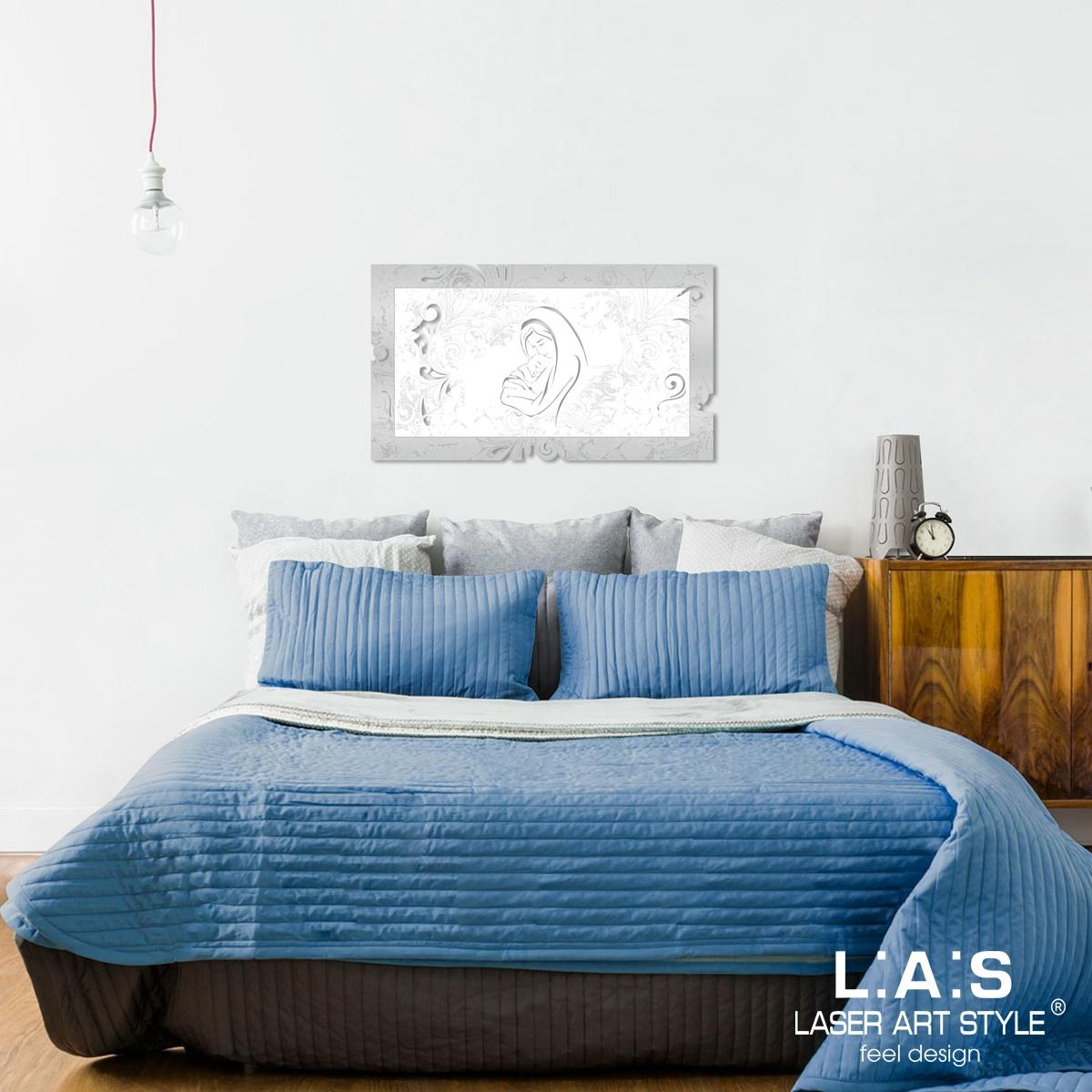 L:A:S - Laser Art Style - QUADRO SACRA FAMIGLIA CAPOLETTO – SI-475XL-T6 ARGENTO – BIANCO