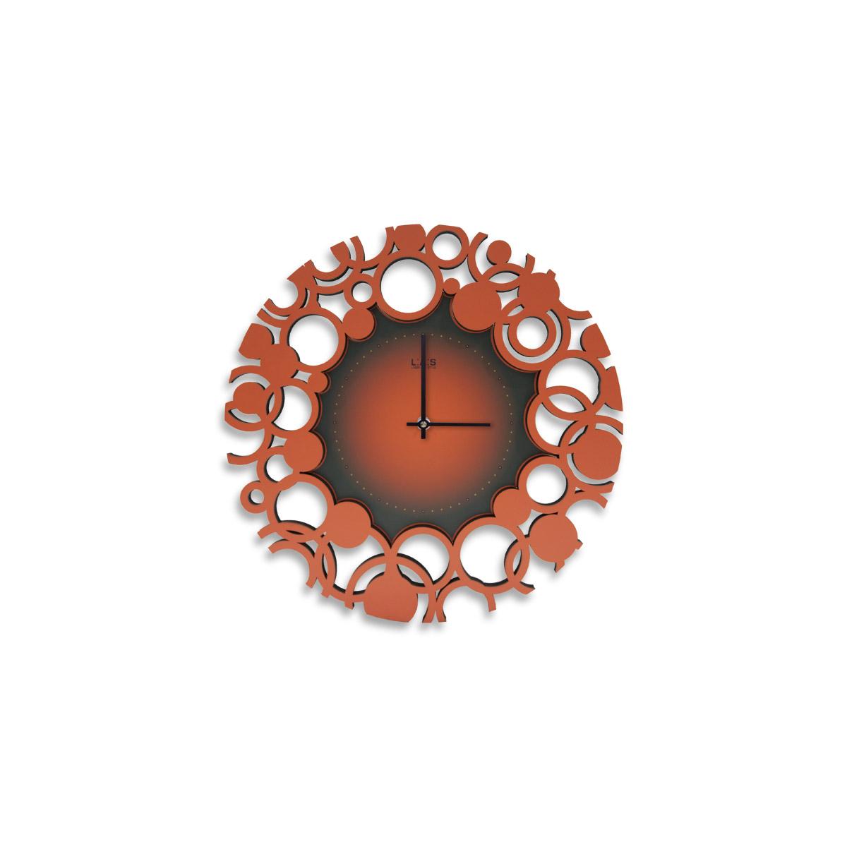 L:A:S - Laser Art Style - OROLOGIO DA PARETE MODERNO – SI-534 DECORO ROSSO