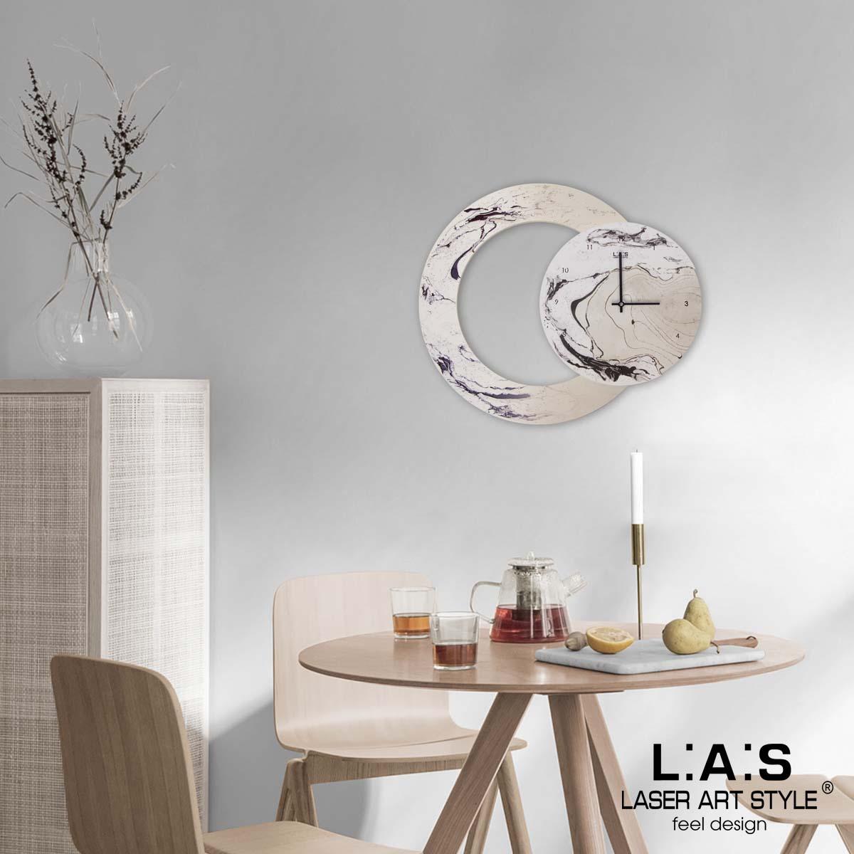 L:A:S - Laser Art Style - OROLOGIO DA PARETE – SI-535 DECORO BORDEAUX