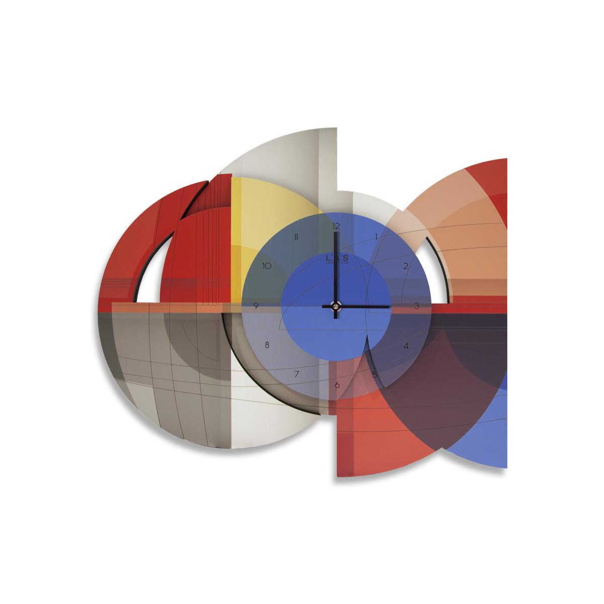L:A:S - Laser Art Style - OROLOGIO DA PARETE DESIGN SI-539 ROSSO