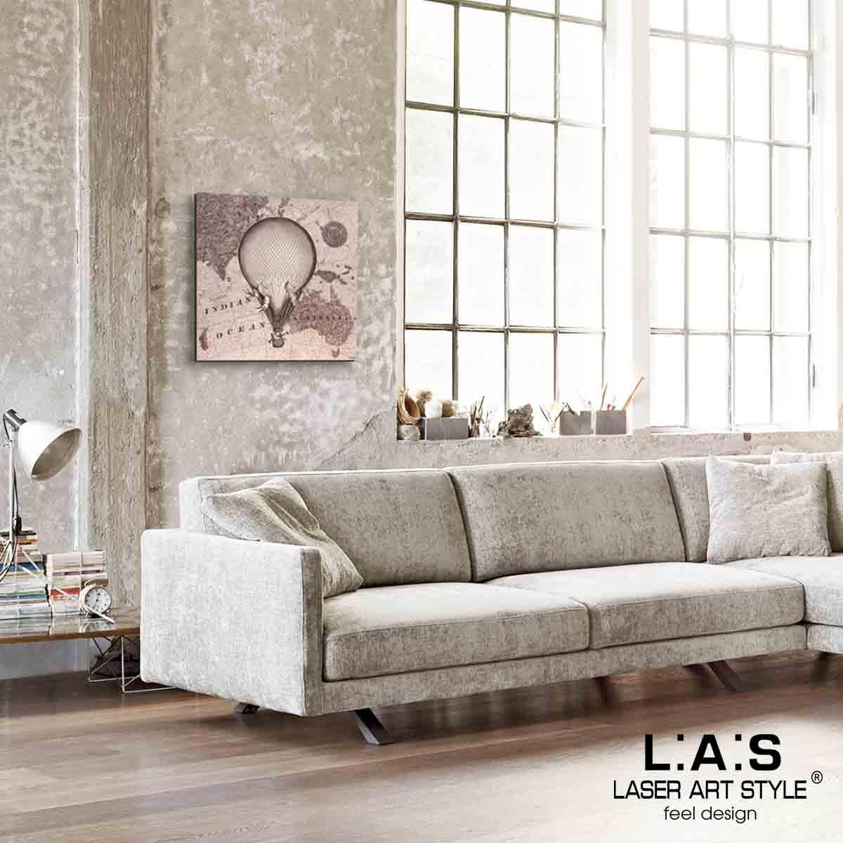 L:A:S - Laser Art Style - QUADRO MODERNO – SCULTURA DA PARETE VIAGGIO – Q-029 DECORO RUGGINE