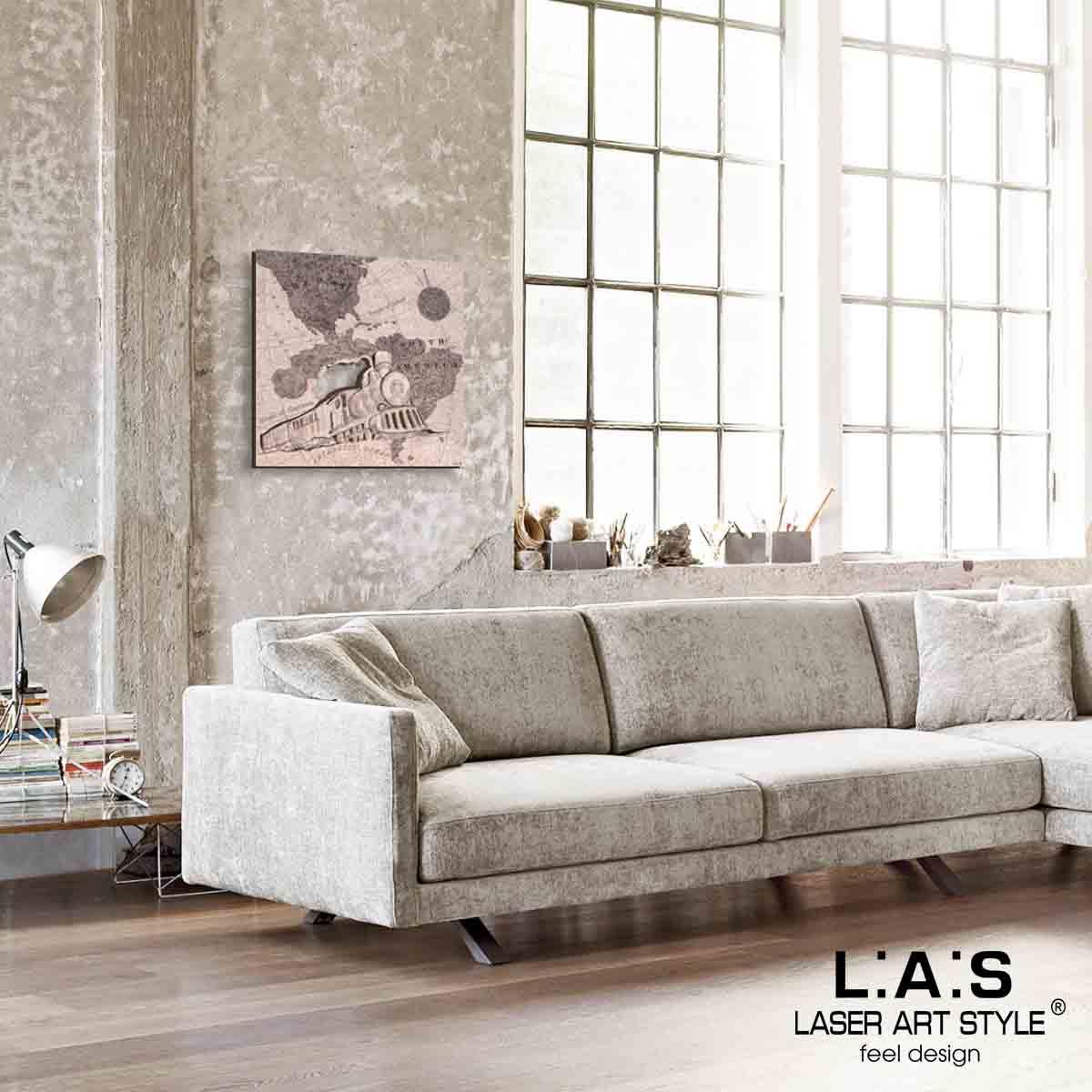 L:A:S - Laser Art Style - QUADRO MODERNO – SCULTURA DA PARETE VIAGGIO -Q-030 DECORO RUGGINE