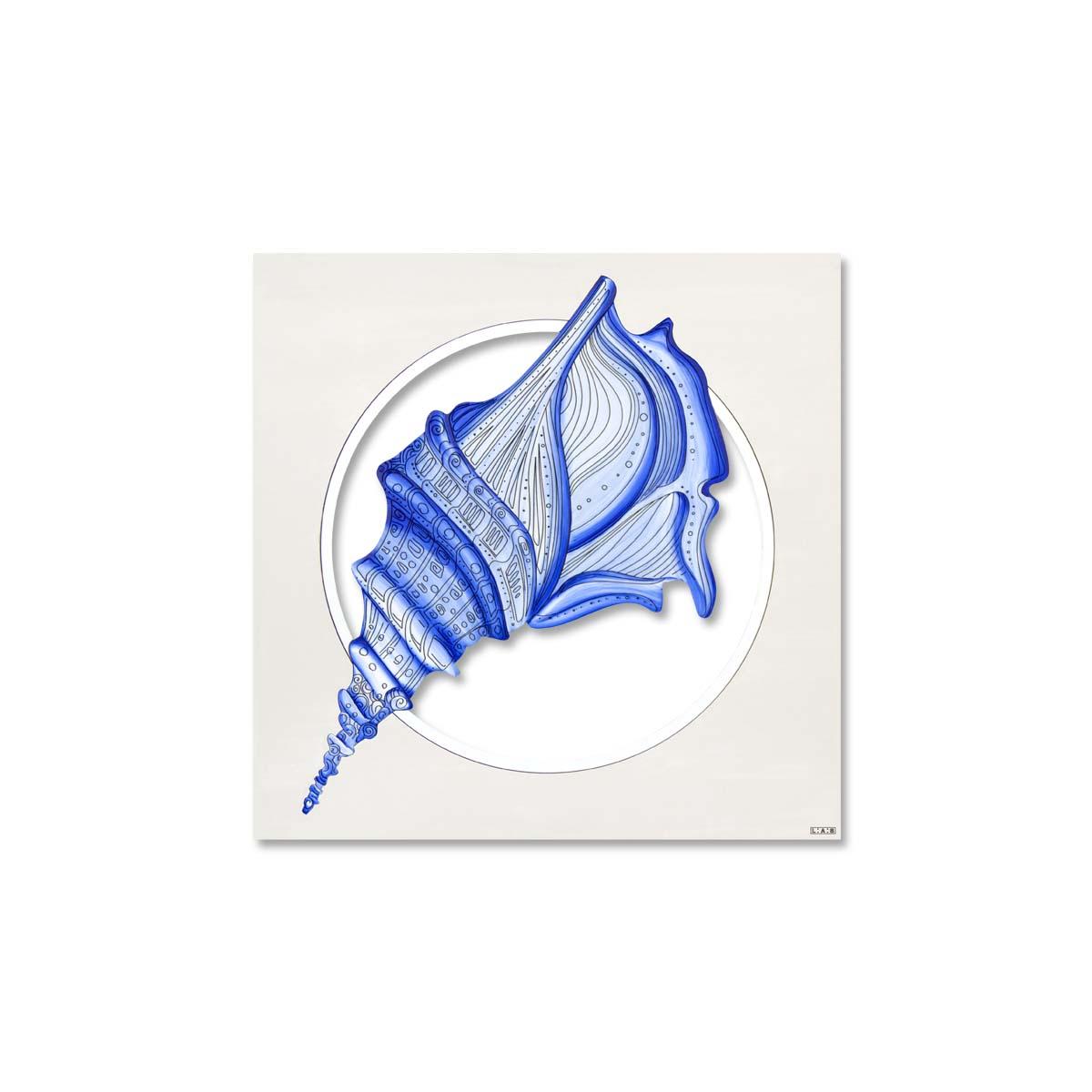L:A:S - Laser Art Style - QUADRO MODERNO – SCULTURA DA PARETE TEMA MARE – Q-033 DECORO BLUETTE