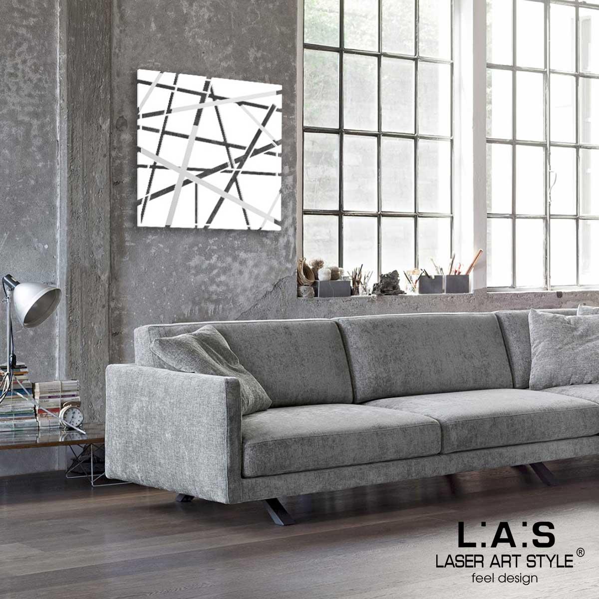 L:A:S - Laser Art Style - QUADRO MODERNO DESIGN MINIMAL – SI-095 BIANCO