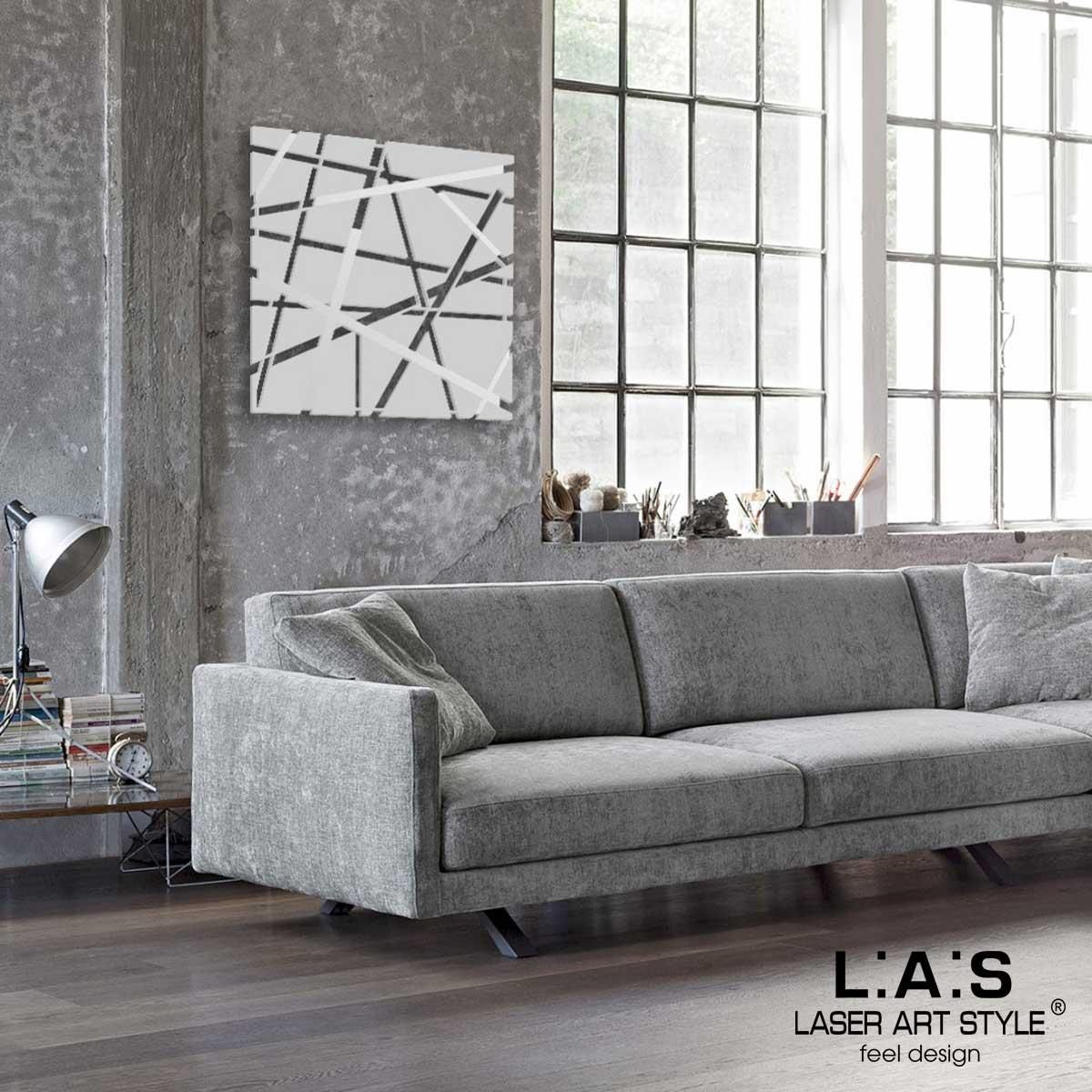 L:A:S - Laser Art Style - QUADRO MODERNO DESIGN MINIMAL SI-095 GRIGIO LUCE