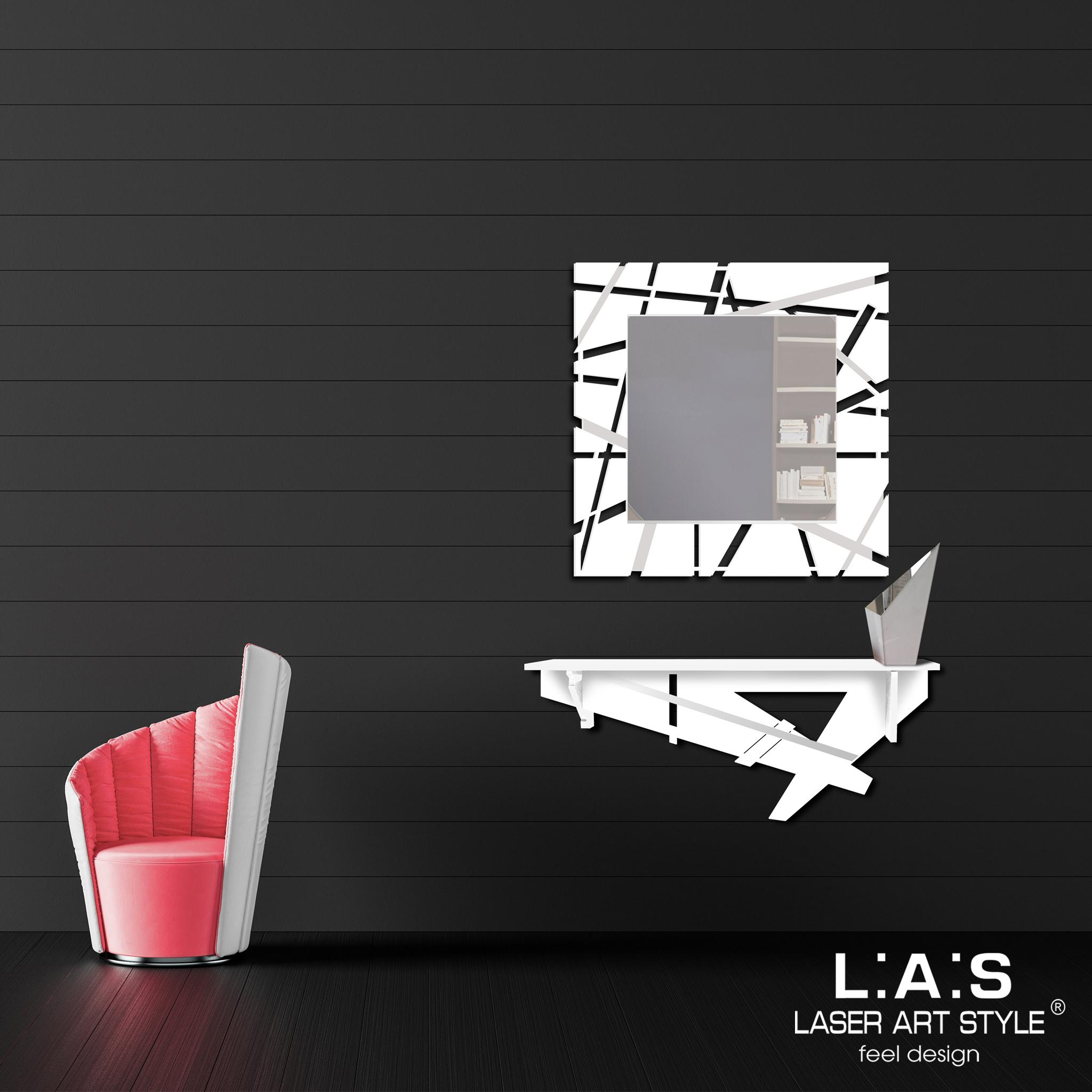 L:A:S - Laser Art Style - CONSOLLE INGRESSO – DESIGN MINIMAL SI-291 BIANCO-BIANCO