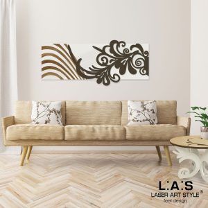 L:A:S - Laser Art Style - SI-134 PANNA-MARRONE-INCISIONE LEGNO