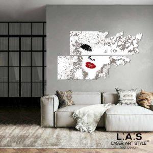 L:A:S - Laser Art Style - SI-156 BIANCO-NERO-ROSSO