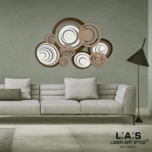 L:A:S - Laser Art Style - SI-183 PANNA-NOCCIOLA-NOCCIOLA-DECORO MARRONE