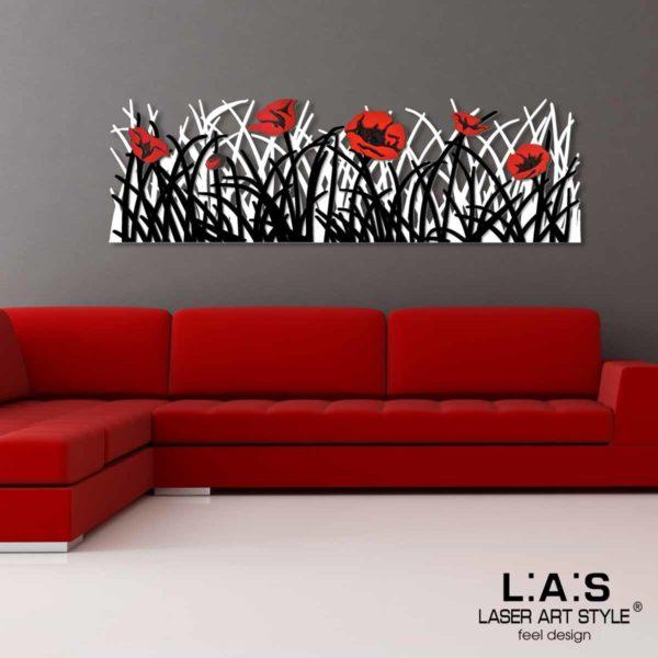 L:A:S - Laser Art Style - SI-214 BIANCO-NERO-DECORO ROSSO