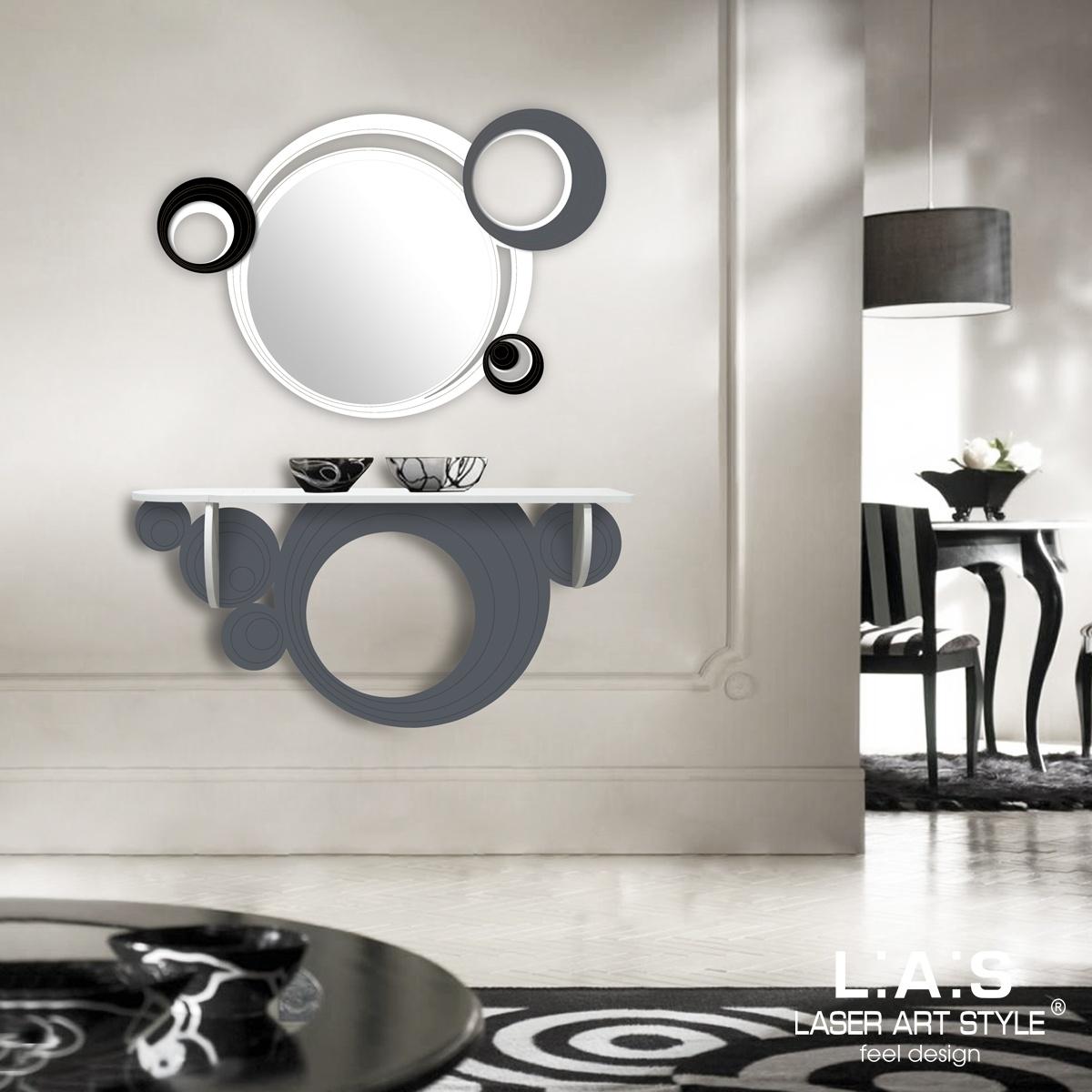 L:A:S - Laser Art Style - CONSOLLE INGRESSO DESIGN MODERNO – SI-279 BIANCO – ANTRACITE