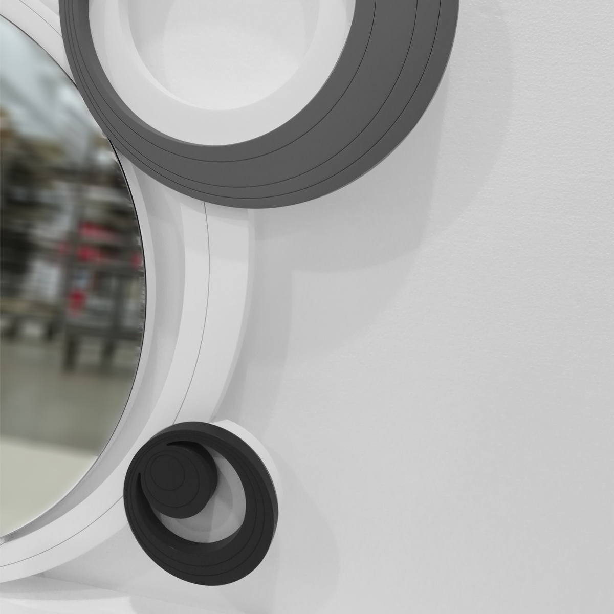 L:A:S - Laser Art Style - SPECCHIERA DESIGN MODERNO – SI-296 BIANCO-NERO-ANTRACITE