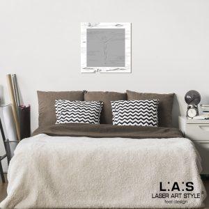 L:A:S - Laser Art Style - SI-478L-T8 BIANCO-CEMENTO
