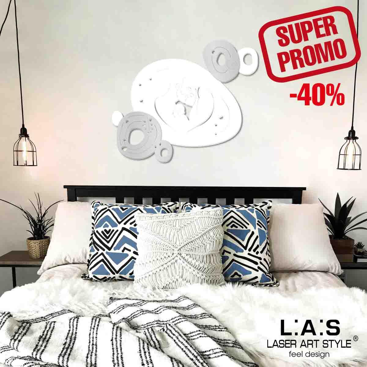 L:A:S - Laser Art Style - CAPEZZALE MODERNO SACRA FAMIGLIA SI-480XL BIANCO – ARGENTO