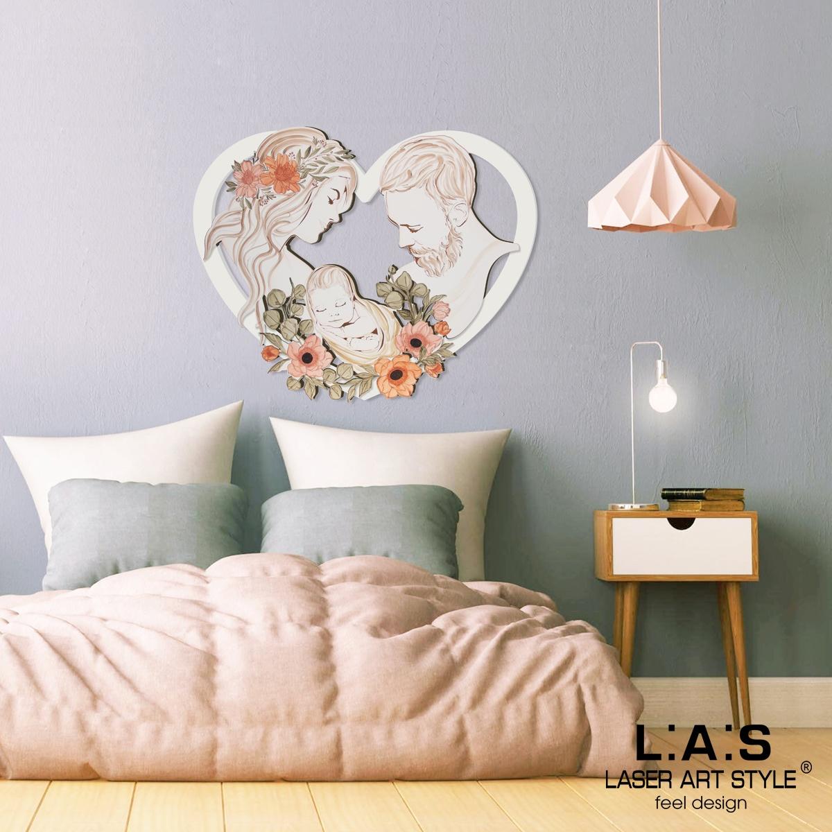 L:A:S - Laser Art Style - CAPEZZALE MODERNO – SACRA FAMIGLIA SI-527 PANNA – DECORO TONI CALDI
