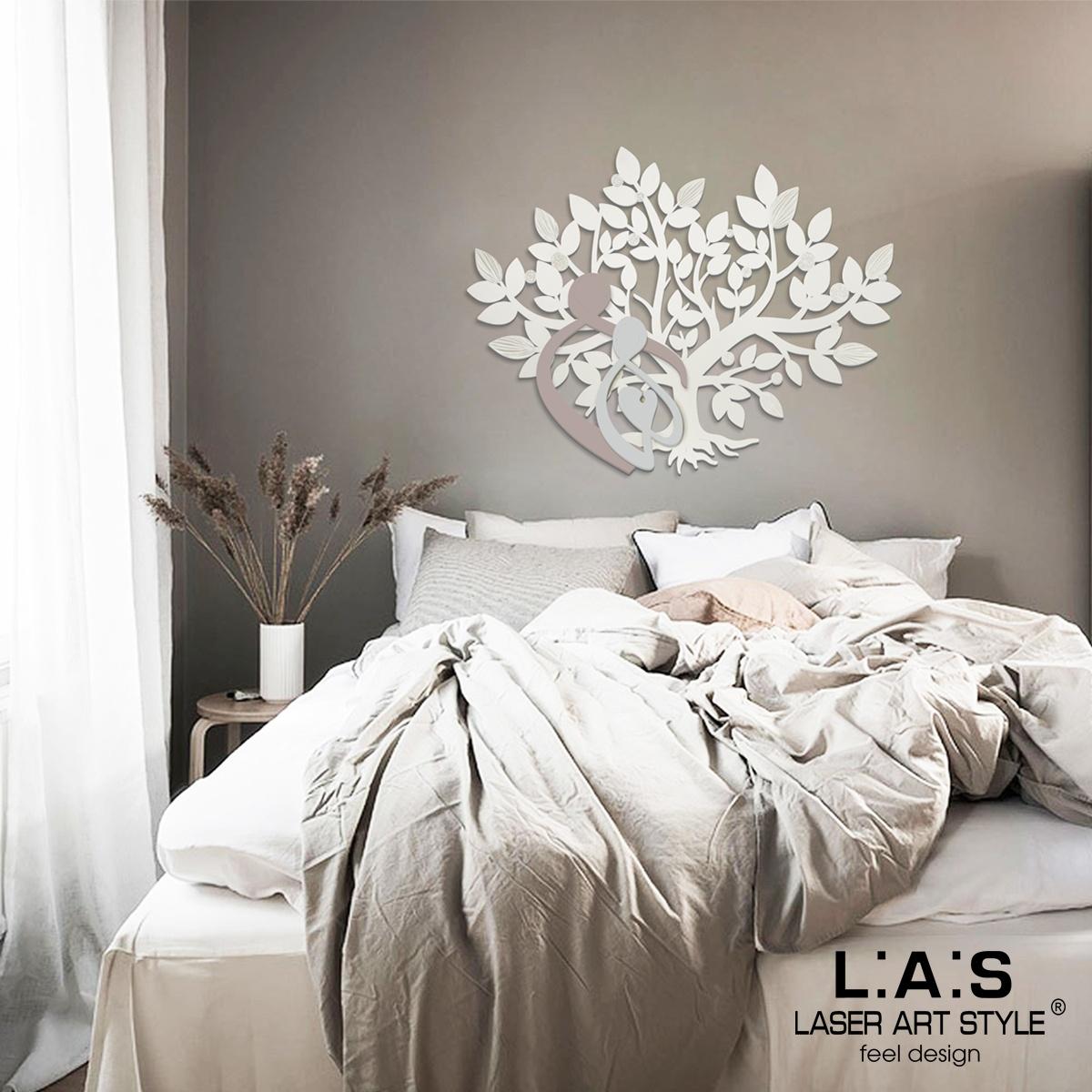 L:A:S - Laser Art Style - ALBERO DELLA VITA – CAPEZZALE – SI-529 PANNA -TORTORA-GRIGIO LUCE