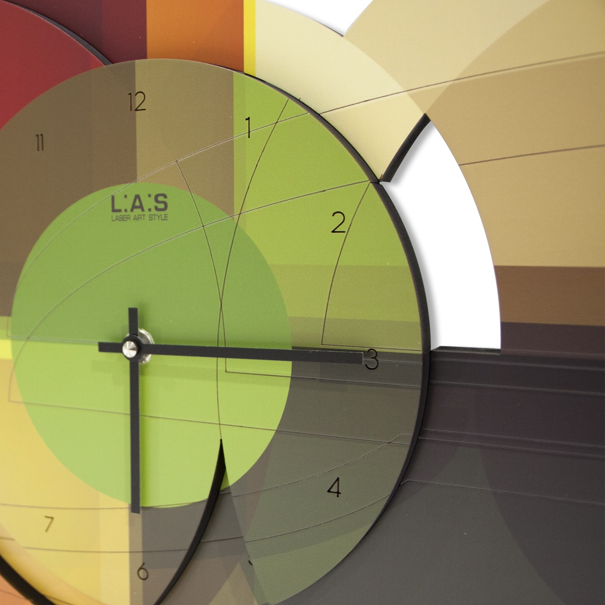 L:A:S - Laser Art Style - OROLOGIO DA PARETE DESIGN – SI-539 VERDE
