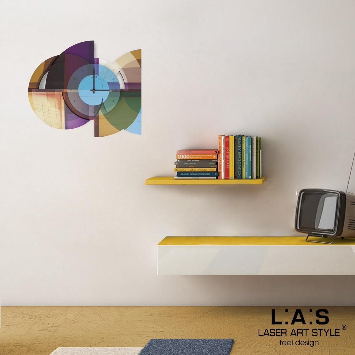 L:A:S - Laser Art Style - OROLOGIO DA PARETE – DESIGN MODERNO – SI-539 VIOLA