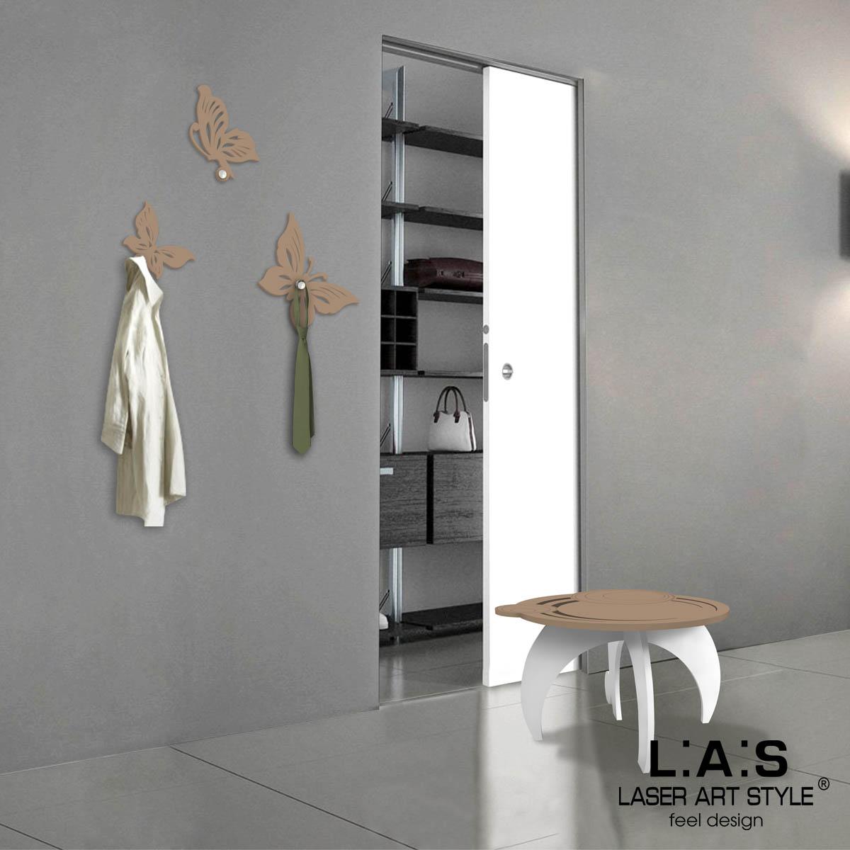 L:A:S - Laser Art Style - APPENDIABITI DA PARETE DESIGN FARFALLA – KIT-200 NOCCIOLA