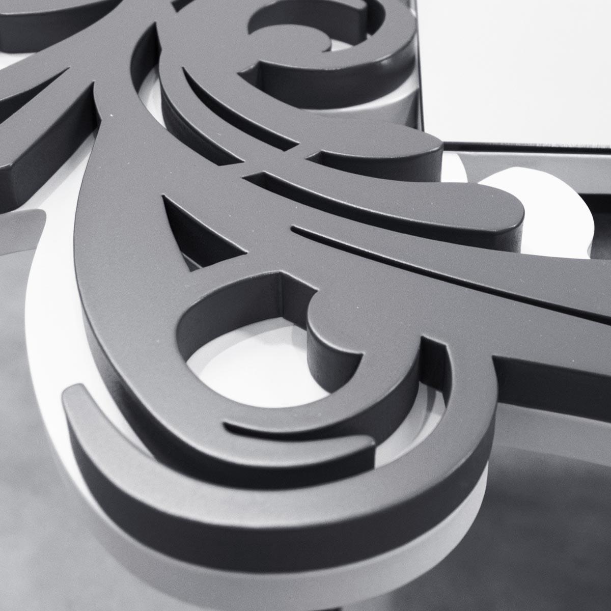 L:A:S - Laser Art Style - SPECCHIERA MODERNA DESIGN BAROCCO – SI-247-SP BIANCO-ANTRACITE