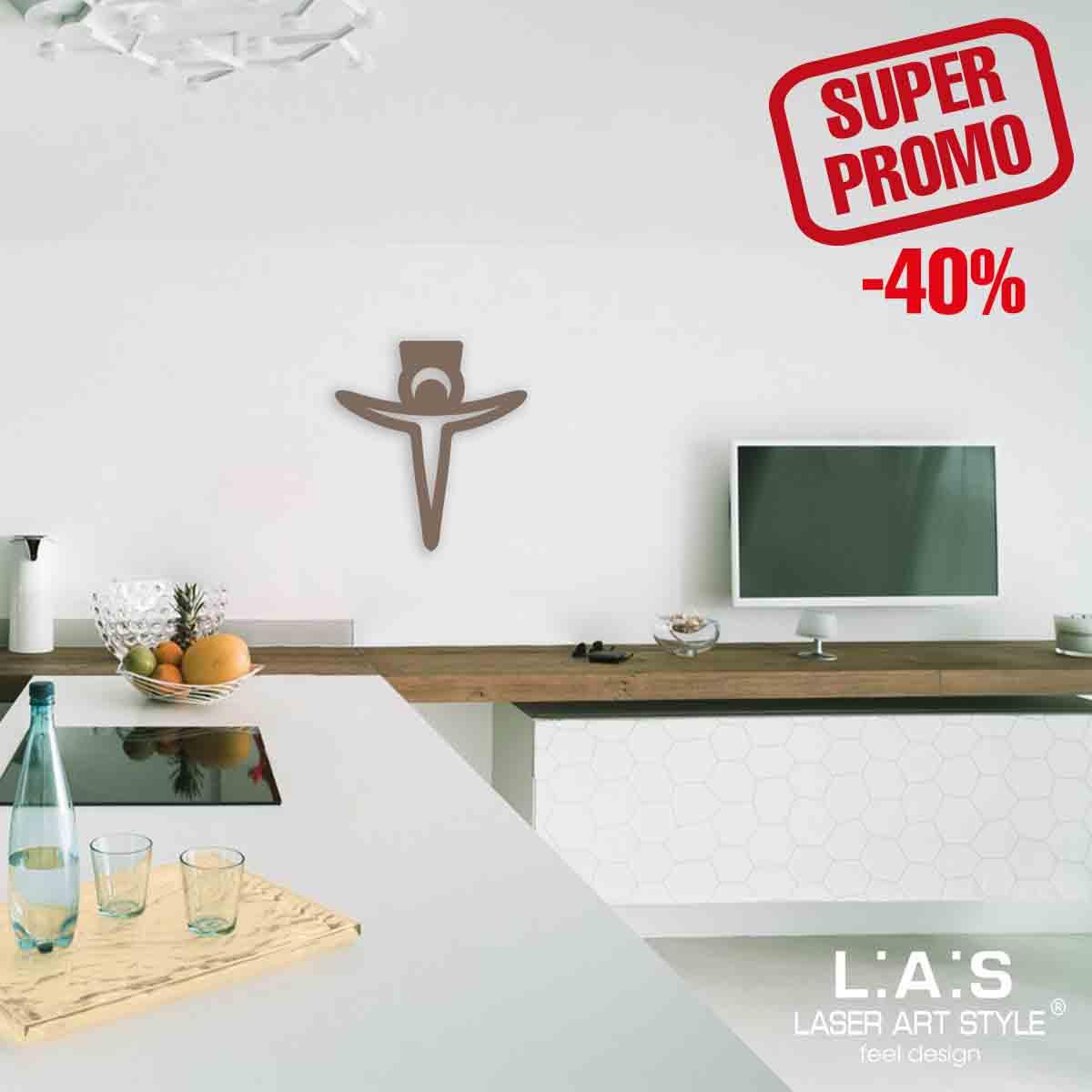 L:A:S - Laser Art Style - CROCIFISSO MODERNO – CR24 GRIGIO MARRONE