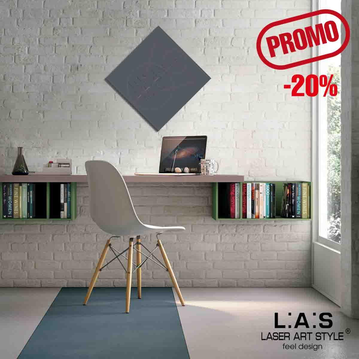 L:A:S - Laser Art Style - QUADRO MODERNO – SCULTURA DA PARETE – Q-010 ANTRACITE