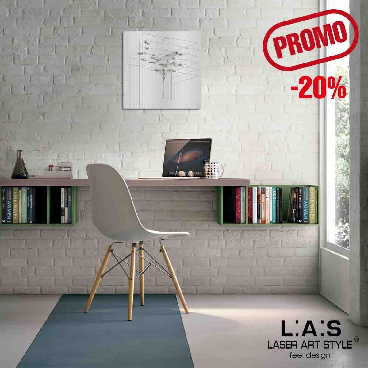 L:A:S - Laser Art Style - QUADRO MODERNO -SCULTURA DA PARETE – Q-011 ARGENTO