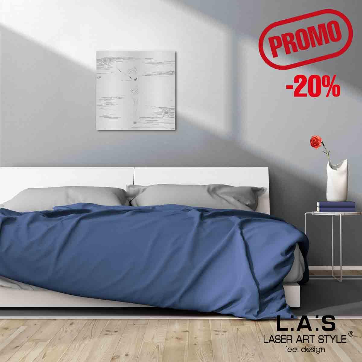 L:A:S - Laser Art Style - CROCIFISSO DA PARETE MODERNO Q-036-T8 ARGENTO