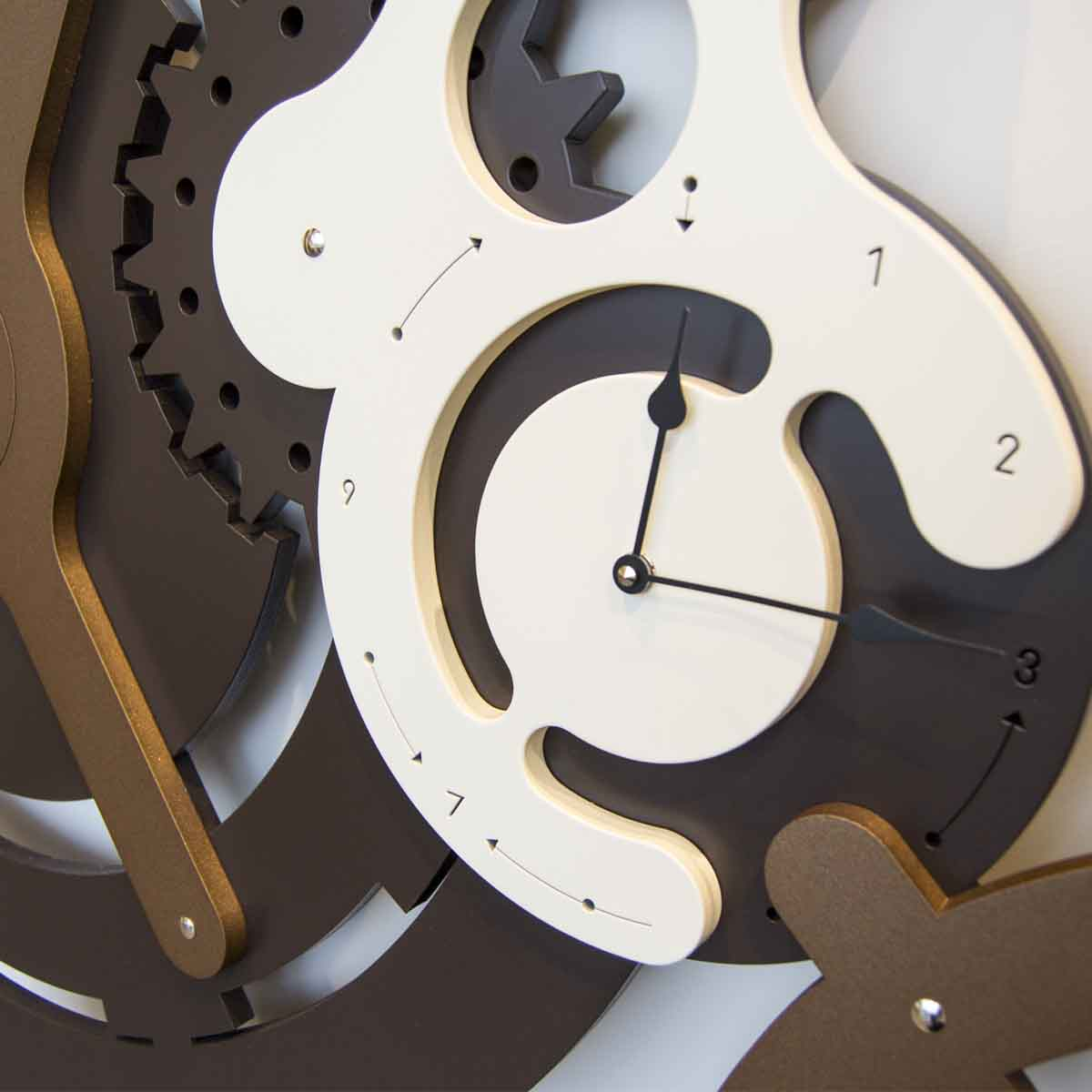 L:A:S - Laser Art Style - OROLOGIO DESIGN INDUSTRIAL – SI-460 MARRONE-BRONZO-PANNA
