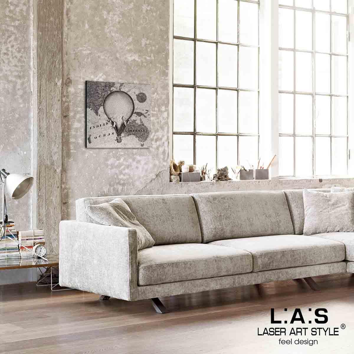 L:A:S - Laser Art Style - QUADRO – SCULTURA DA PARETE – Q-029 DECORO NERO