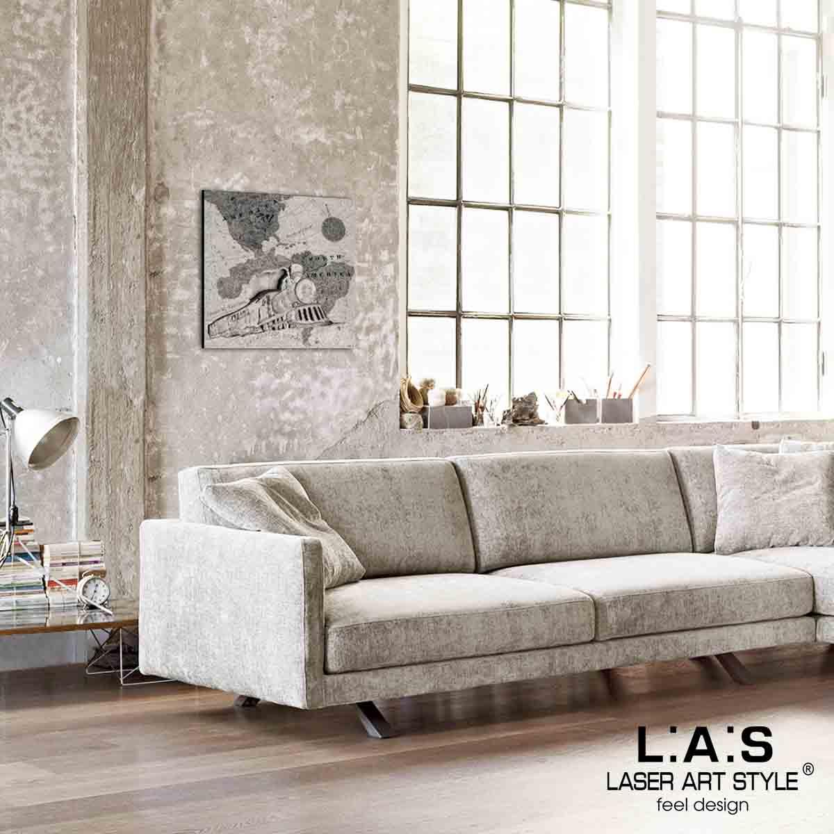 L:A:S - Laser Art Style - QUADRO -SCULTURA DA PARETE – Q-030 DECORO NERO