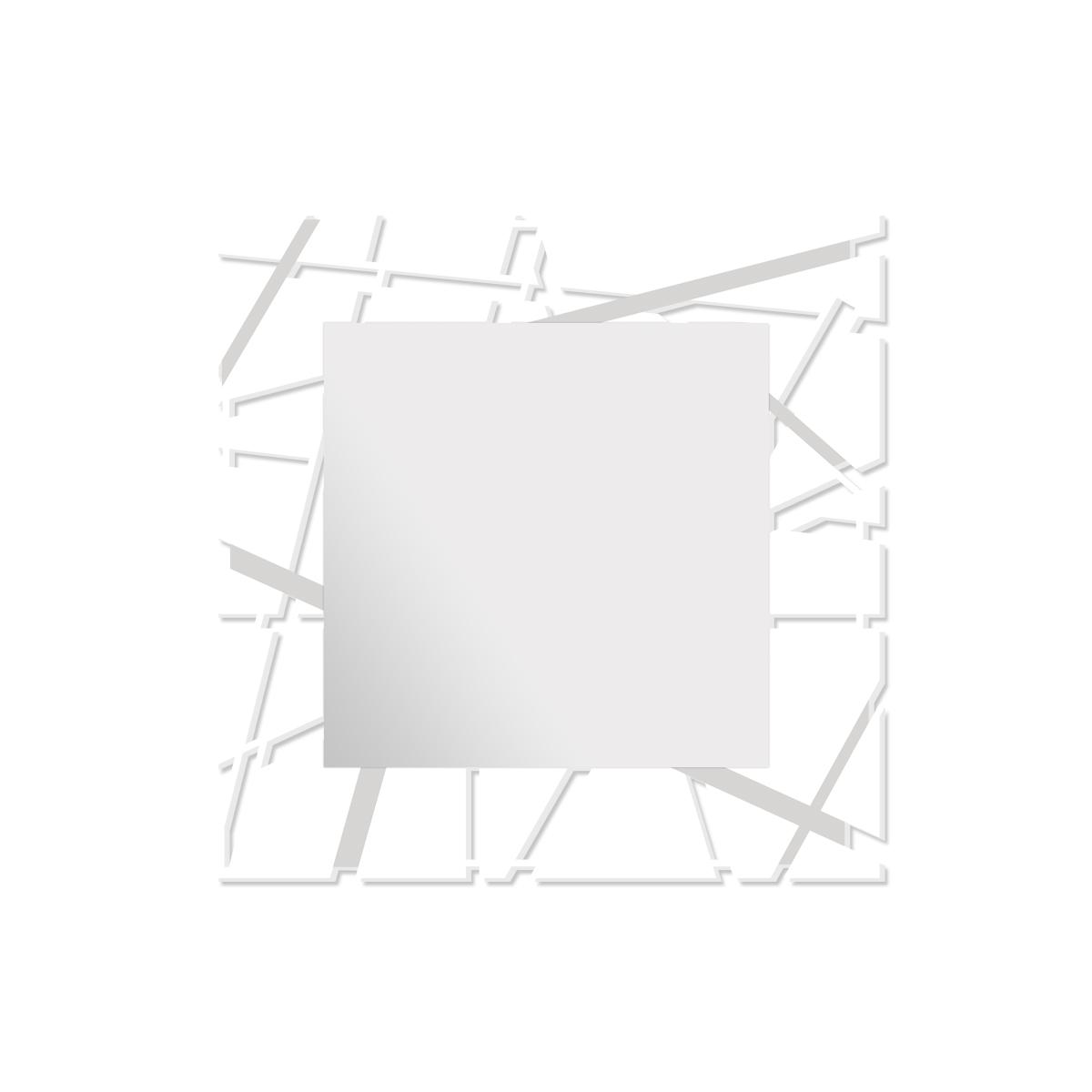 L:A:S - Laser Art Style - SPECCHIO DA PARETE DESIGN MINIMAL – SI-095Q-SP BIANCO