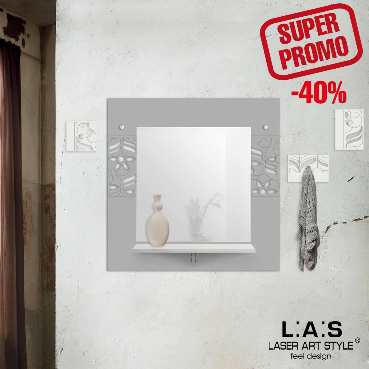 L:A:S - Laser Art Style - SPECCHIERA-MENSOLA-APPENDIABITI – SI-449 CEMENTO-PANNA