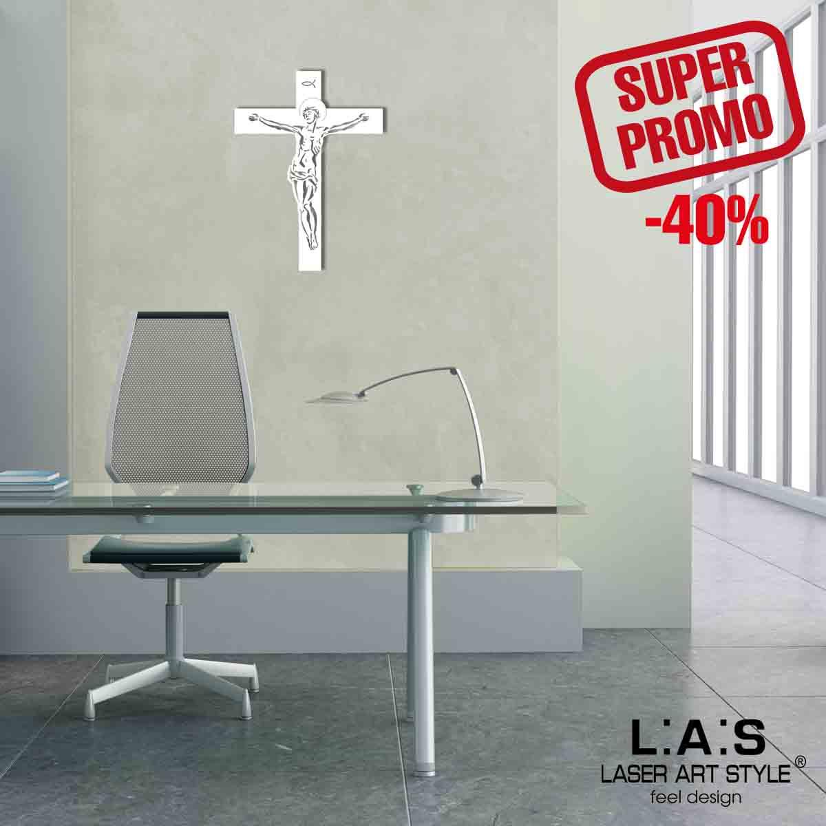L:A:S - Laser Art Style - CROCIFISSO DA PARETE MODERNO – CR20 BIANCO