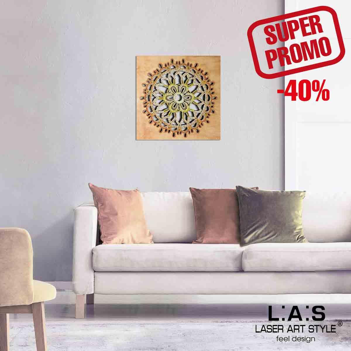 L:A:S - Laser Art Style - SCULTURA DA PARETE – DECORATA A MANO EFFETTO RICAMO SI-099M TONI CALDI